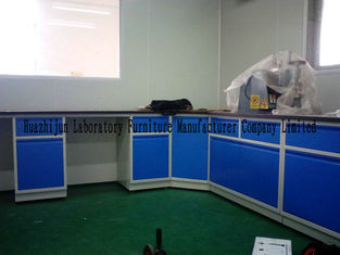 Blue Colour Wall Corner Bench /  Lab Table For Lab Project / Wall Bench With Sink Table